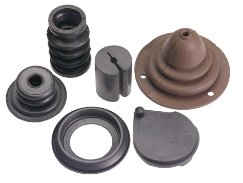 Timco Rubber supplies rubber parts like molded rubber products, rubber extrusions, die cut rubber, and lathe cut rubber