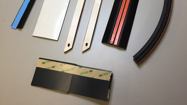 Pressure Sensitive Adhesive Options for Custom Rubber Parts